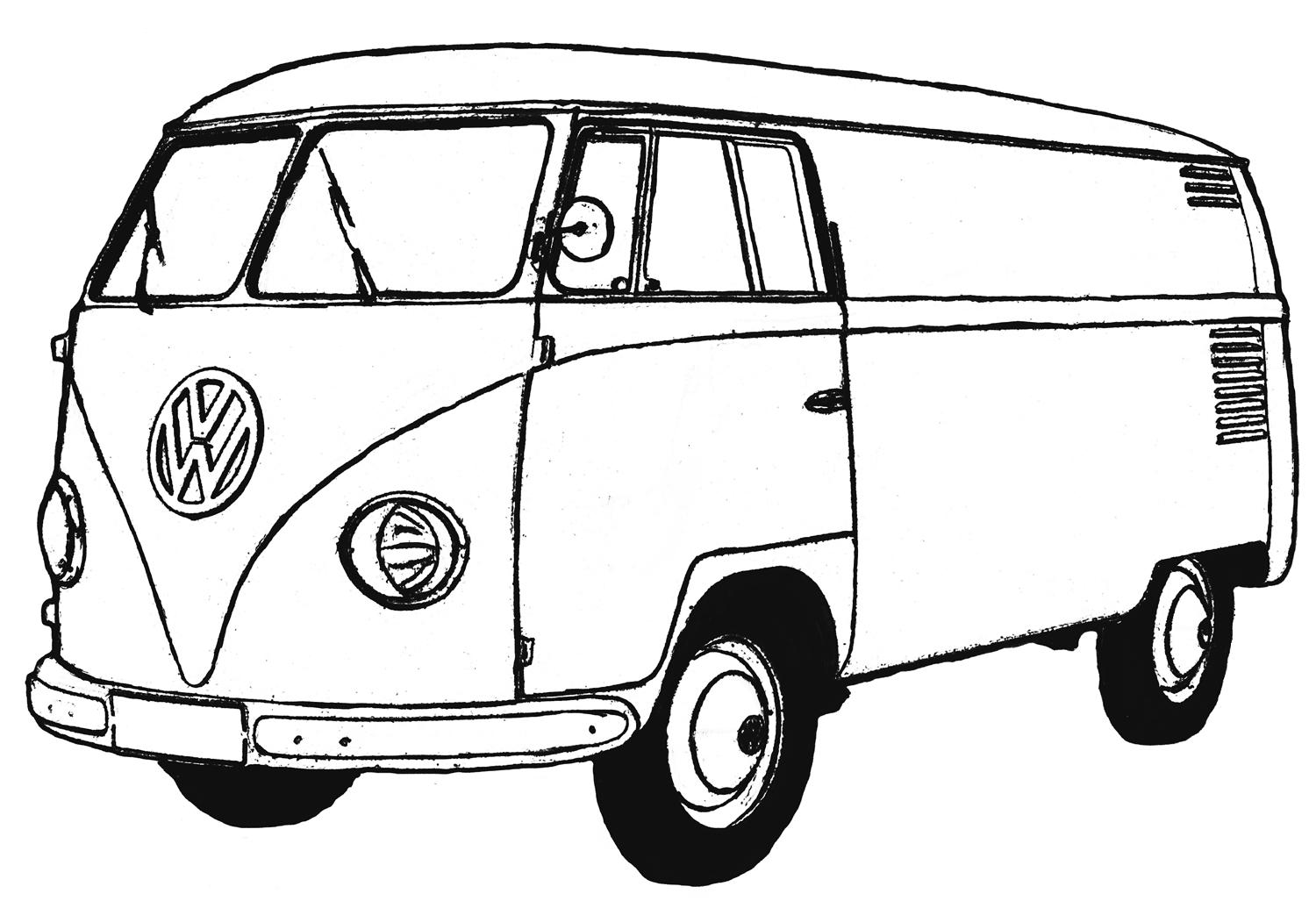 Coloring Pages Van : Free coloring pages of combi van
